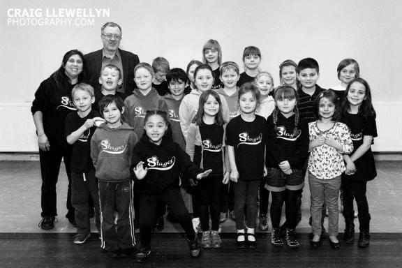 Coral & Stages' children with Northfield MP Richard Burden