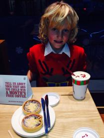 Zak Spencer enjoyed his mince tarts at Costa Coffee in Longbridge - free to those wearing a Christmas jumper! (Fri 13th only!)