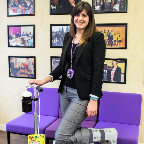 Katie Marshall, Knee Scooter, Teacher using Knee Scooter, ARK Kings Academy teacher
