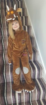 This little Gruffalo didn't want to be a princess today...