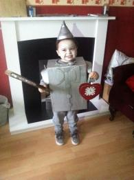 The cutest Tin Man we've ever seen! Kian (4) from Kings Norton
