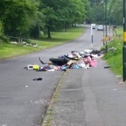 Flytipping in Hawkesley June 2016
