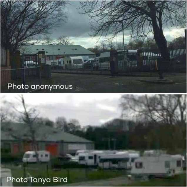 Travellers moved onto Shenley Academy car park on Friday