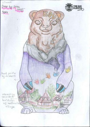 Winning bear design by Arnaa Arooj, year 9 pupil