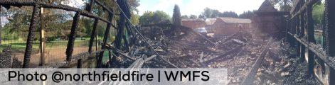 Devastation following the fire