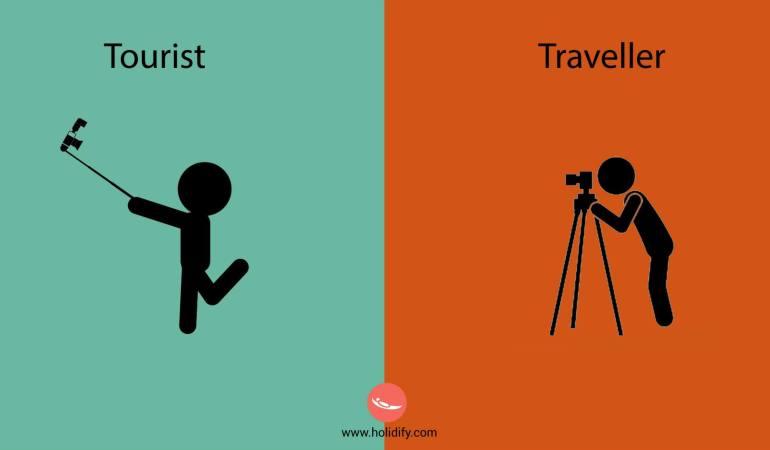 """Diferencias entre """"viajero"""" y """"turista"""""""
