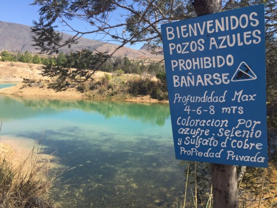 minerales - pozos azules
