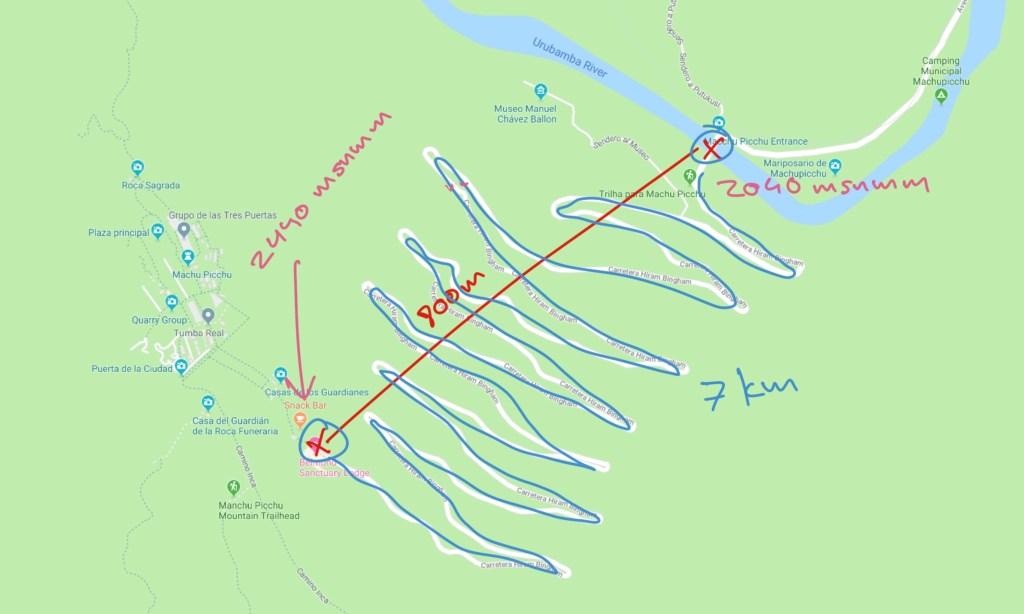 Ruta de Aguascalientes a Machu Picchu