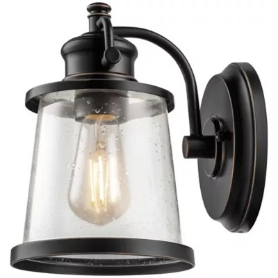 Globe Electric Charlie 1-Light Indoor/Outdoor LED Wall ... on Electric Wall Sconces Indoor id=80171