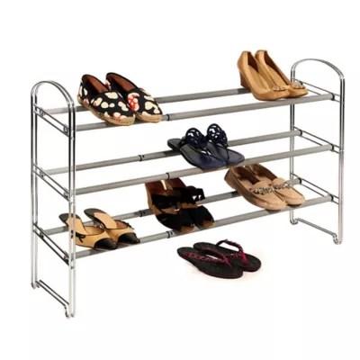 https www bedbathandbeyond com store product seville classics 3 tier expandable shoe rack in chrome 1061424227
