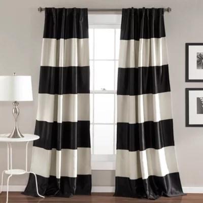 curtains black white bed bath beyond
