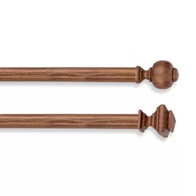 cambria estate wood smooth curtain rod