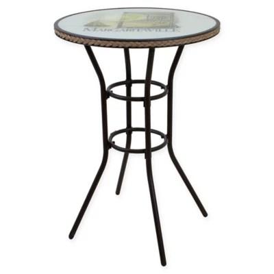 margaritaville bar height outdoor wicker bistro table