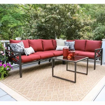 leisure made blakely 5 piece sectional patio furniture set