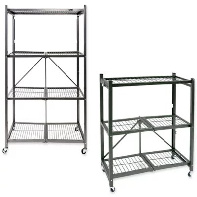 origami foldable wheeled storage rack collection