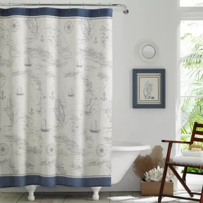tommy bahama caribbean sea shower curtain in blue