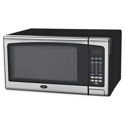 oster 0 7 cu ft stainless steel microwave oven