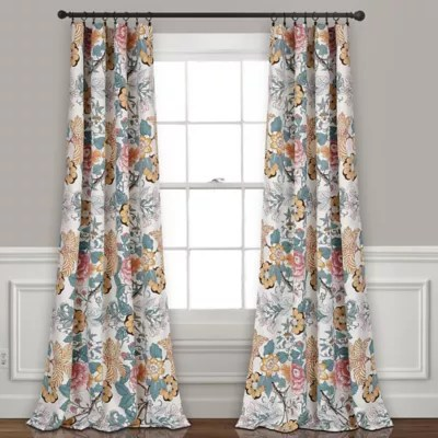 floral curtains bed bath beyond