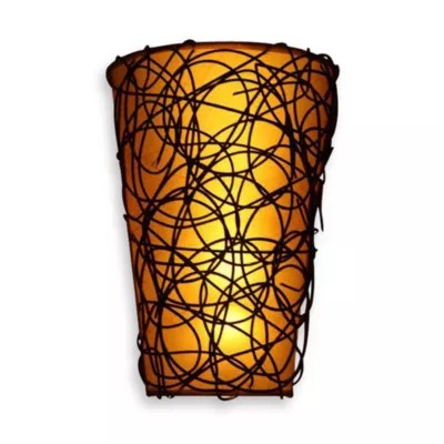 It's Exciting Lighting Battery Powered LED Wicker Shade ... on Battery Powered Wall Sconces id=56476