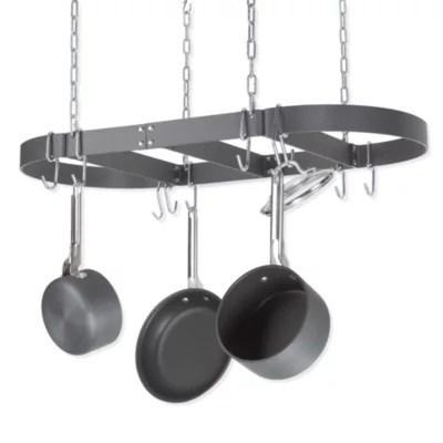 calphalon collector s edition oval ceiling pot rack