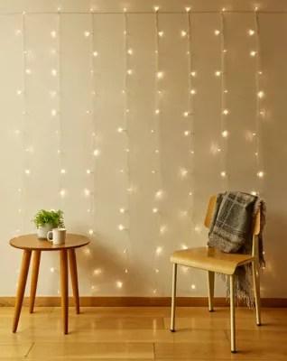 kikkerland 150 light led curtain string lights in warm white bed bath beyond