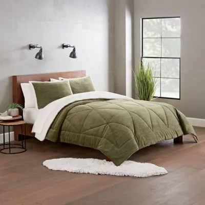 green comforter sets bed bath beyond