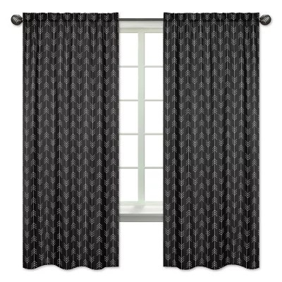 black and white curtains bed bath