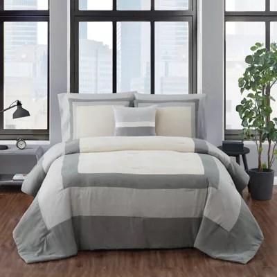 grey and tan comforter bed bath beyond