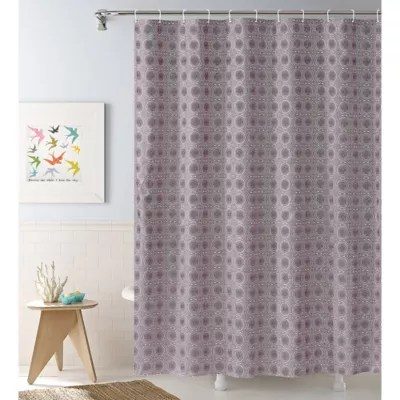 https www bedbathandbeyond com store product penelope 13 piece medallion shower curtain and hook set in purple 5516945