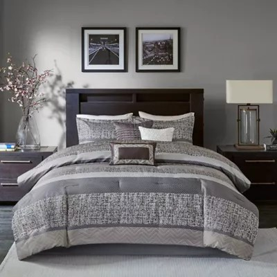 grey comforter sets bed bath beyond