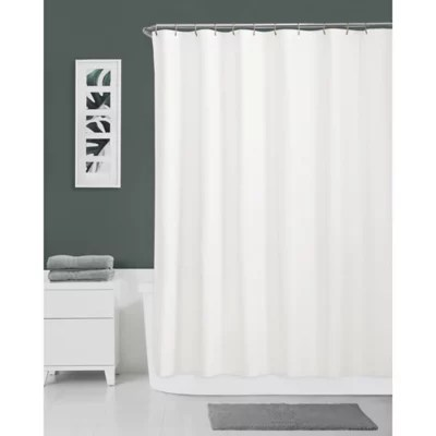 hookless escape fabric shower curtain and snap in liner set
