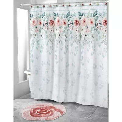 off white shower curtain bed bath