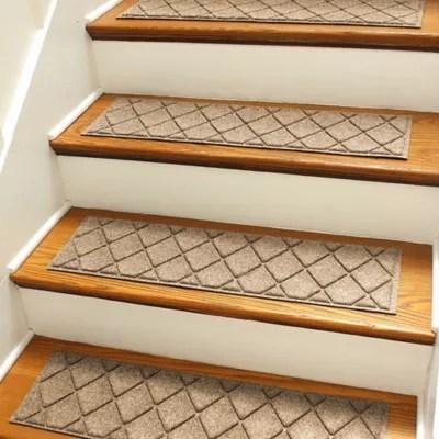 Stair Treads Bed Bath Beyond | 36 Inch Carpet Stair Treads | Attachable Indoor | Walmart | Basement Stairs | Vanilla Cream | Pet Friendly