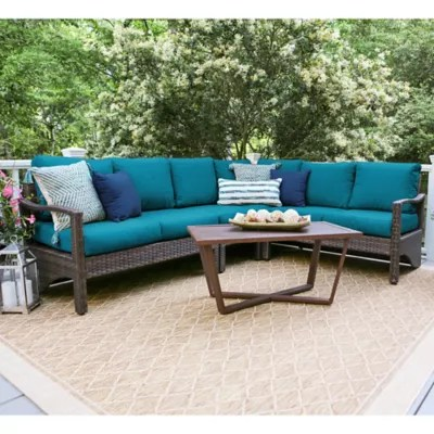 Leisure Made Augusta 5-Piece Sectional Patio Furniture Set ... on 5 Piece Sectional Patio Set id=72611