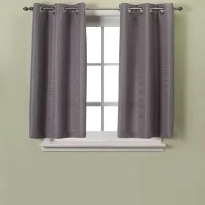hookless waffle 45 inch bath window curtain bed bath beyond