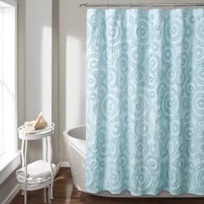 gray ruffle shower curtain bed bath