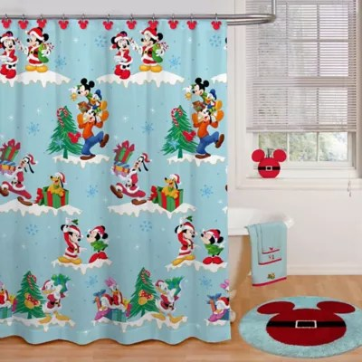 disney holiday shower curtain collection