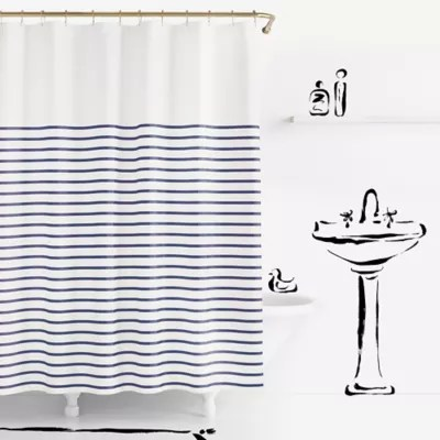 kate spade new york harbour stripe shower curtain bed bath and beyond canada