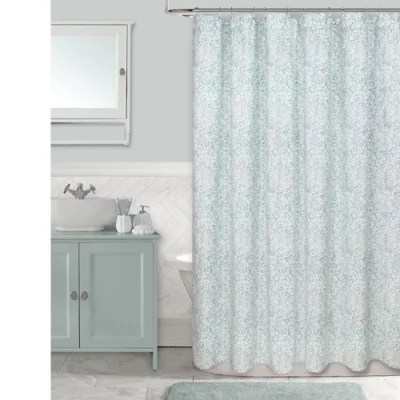 colordrift botanical shower curtain