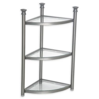 .ORG 3-Tier Bathroom Corner Shelf Tower | Bed Bath & Beyond on Bathroom Corner Shelf  id=26068