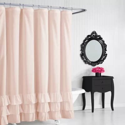 betsey johnson solid ruffle shower curtain bed bath beyond