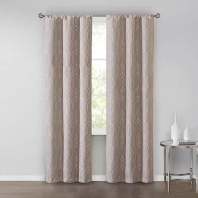 2 pack rod pocket window curtain panels