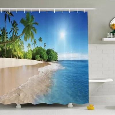 beach shower curtains bed bath beyond