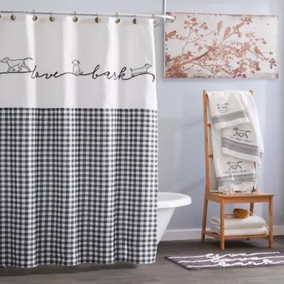 black and gold shower curtain bed