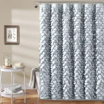 lush decor shimmer sequins shower curtain in silver