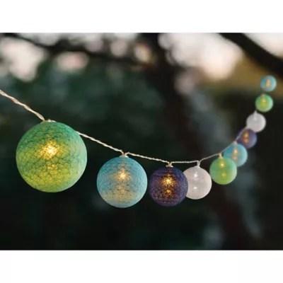 solar set of 10 colored orb string lights