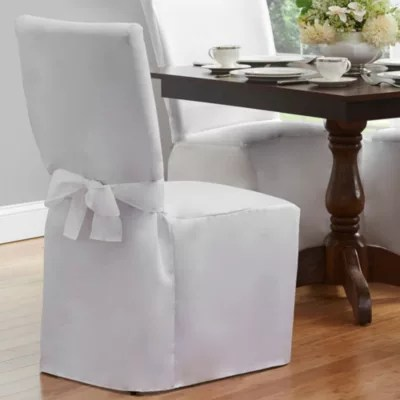 white linen chair covers bed bath