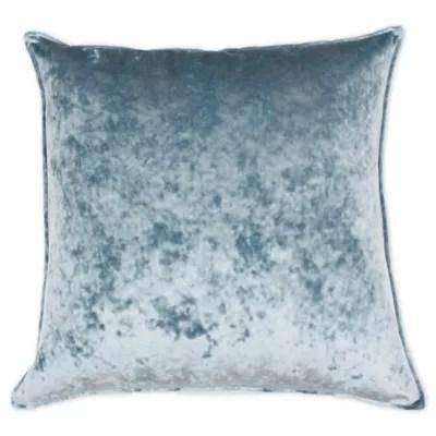 blue velvet pillows bed bath beyond
