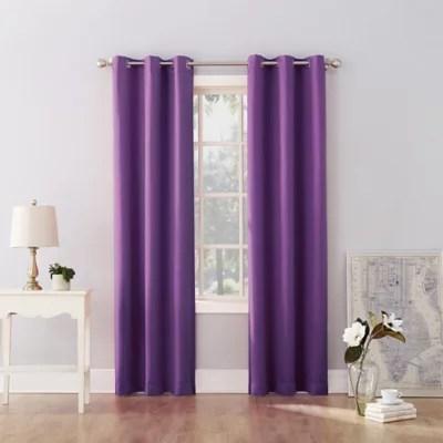 purple curtain panels bed bath beyond