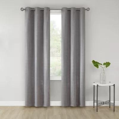 salt sandspoint 2 pack grommet room darkening window curtain panels in grey